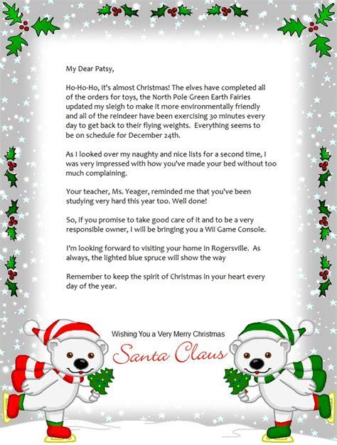 printable christmas letters  santa making