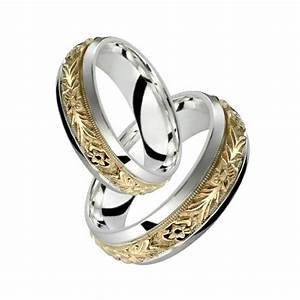 10k Yellow Gold W Sterling Silver Ring Elegant Floral