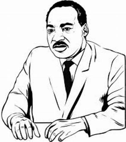 Luther Martin King Coloring Jr Pages Mlk
