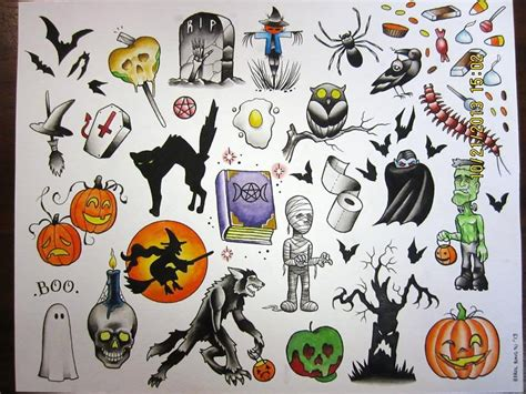24+ Traditional Halloween Tattoo Designs And Images