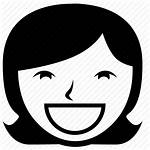 Icon Happy Icons Woman Smile Person Laugh