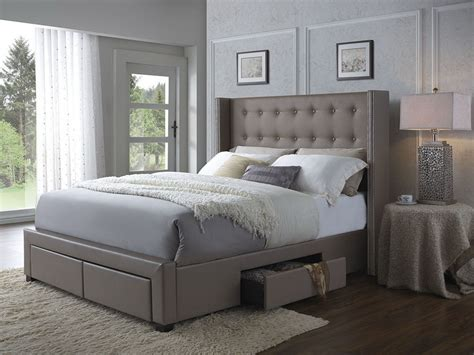 262 tufted wingback bed wingback storage bed frame furniture tufted leather