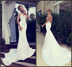 sexy backless mermaid wedding dresses cherry marry With mermaid backless wedding dress