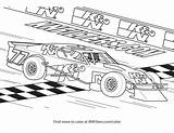 Coloring Race Modified Printable sketch template