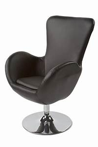 fauteuil de salon design en similicuir skara 2 coloris With fauteuil de designer