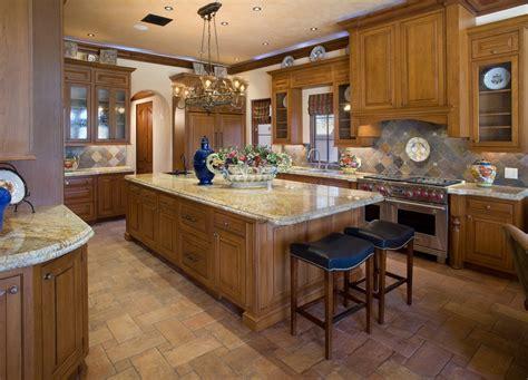 Tile Kitchen Ideas - 美式开放式厨房吊顶装修效果图 土巴兔装修效果图