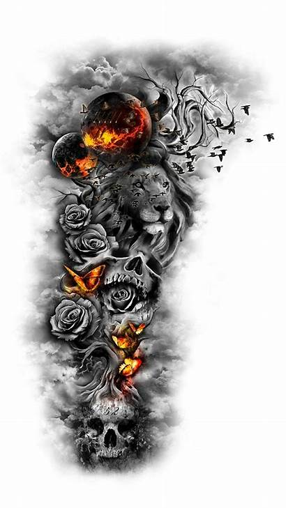 Tattoo Wallpapers Rose Lion Abstract Unique Phones