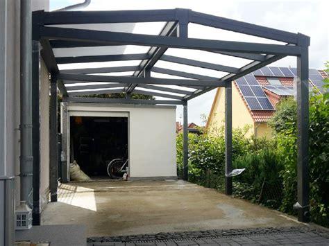 Carport Vor Der Garage  Kd Überdachung