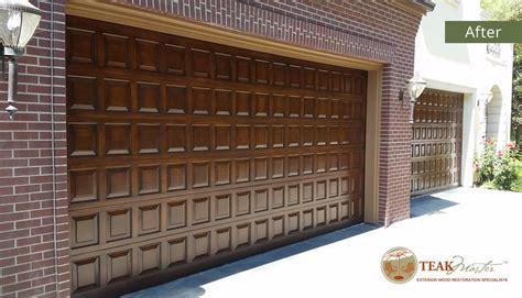 garage door restoration teak master