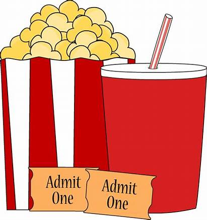Popcorn Drink Clip Tickets Graphics Mycutegraphics Pair