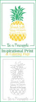 pineapple inspirational print  coloring page