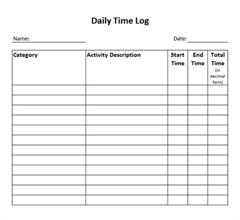 time tracking template 11 time log templates pdf word sle templates