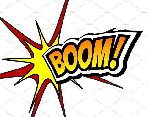 Boom Comic Speech Bubble, Cartoon. Pop Art Background