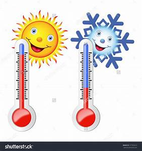 Hot and cold temperature clipart