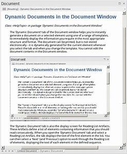 Dynamic Documents In The Document Window