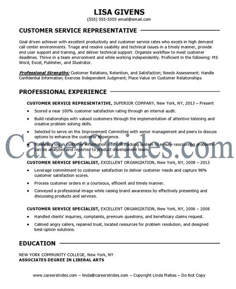 customer service resume sle exle