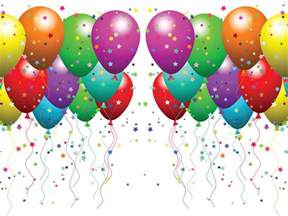 Balloons and Confetti Clip Art