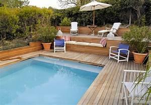 Piscine Semi Enterrée Coque : terrasse piscine semi enterree ~ Melissatoandfro.com Idées de Décoration