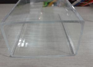 Transparency Rectangular Extruded Acrylic Tube , Clear