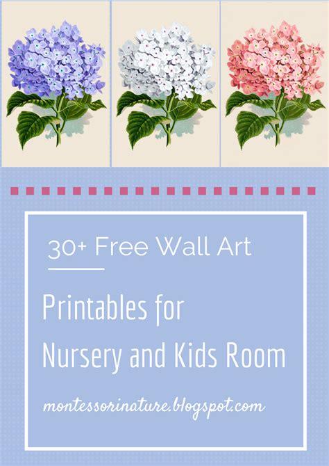 30+ Free Wall Art Printables for Nursery and Kids Room