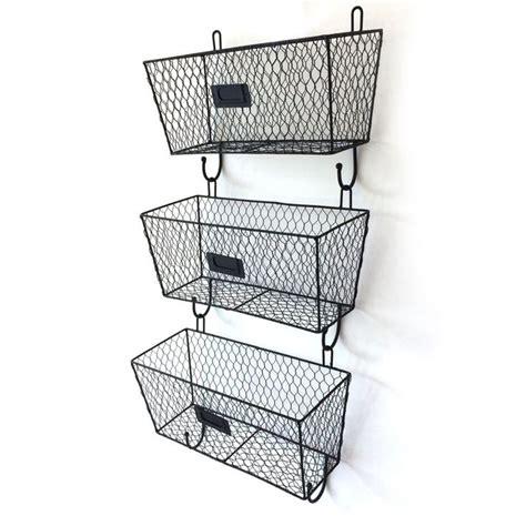 rack ladder baskets  wall wire basket storage metal rack