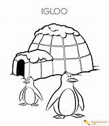 Igloo Coloring Eskimo Pages Drawing Sheet Clipartmag Playinglearning sketch template