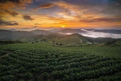 Korea South Summer Mountain Landscape Nature Sunrise