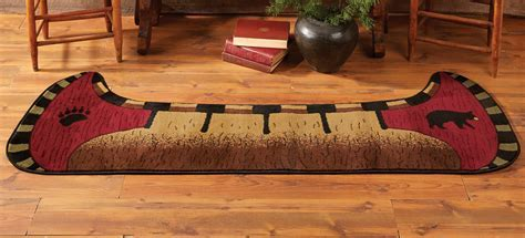 Bear Rugs: Bear Canoe Rug Black Forest Decor