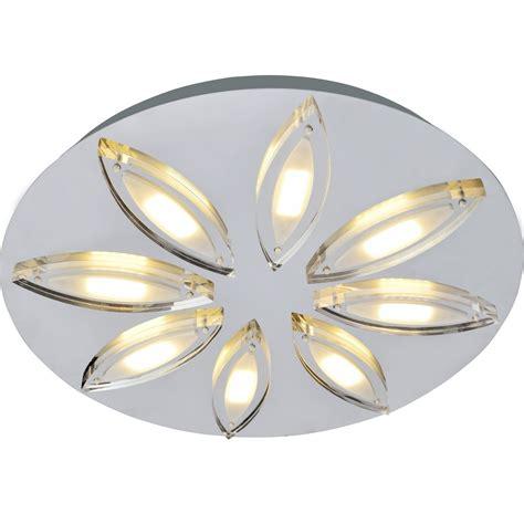 spot led pour cuisine plafonnier obera inspire chrome brossé 3 w leroy merlin
