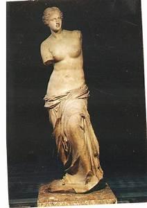 Louvre Museum Postcard Venus de Milo Statue Mexichrome