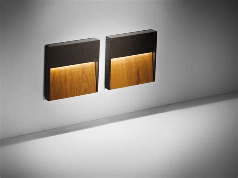 skill wood square led lights from simes architonic