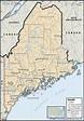 Maine USA Map Google - ToursMaps.com