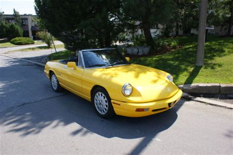1993 Alfa Romeo Spider For Sale by Alfa Romeo Spider Convertible 1993 Yellow For Sale