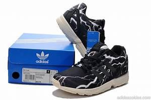 Chaussure Adidas Originals Zx Flux Lightning M21776 Navy Blanc Adidas En Promo