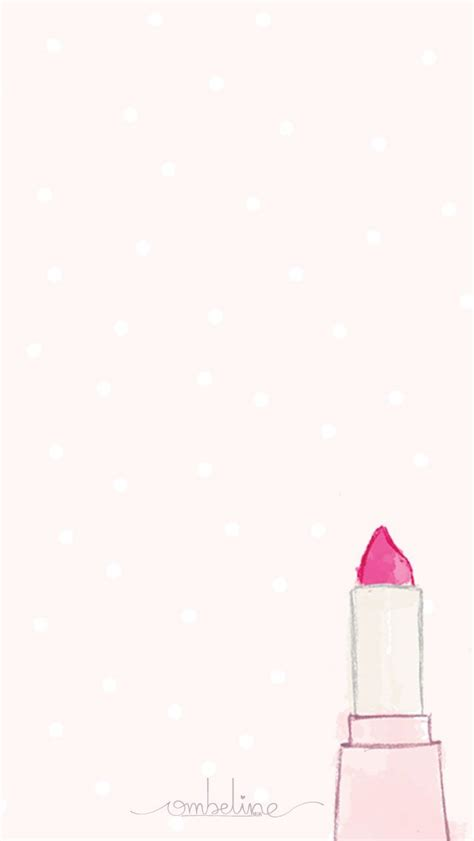 Girly Home Screen Wallpaper Quotes by Watercolor Make Up Girly Pink Iphone Home Screen Wallpaper