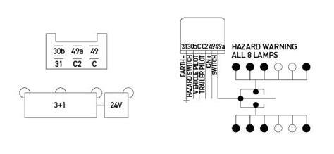 electronic flasher unit 24v 6 pin 3 1