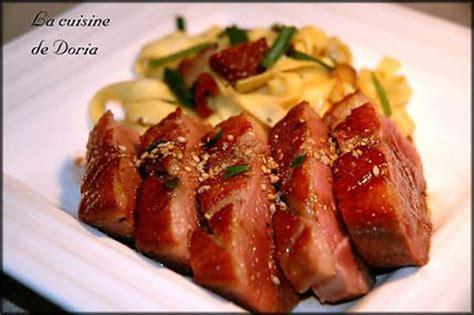 recette de canapé recette de magret de canard au miel et vinaigre balsamique