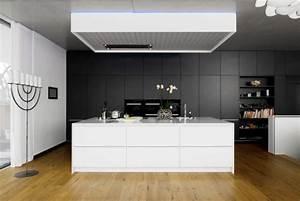 cuisine moderne en noir et blanc 35 idees magnifiques With cuisine moderne noir et blanc
