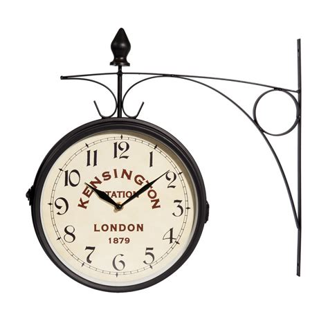 horloge applique en m 233 tal d 42 cm kensington maisons du monde