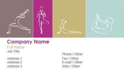 business card templates massage therapy