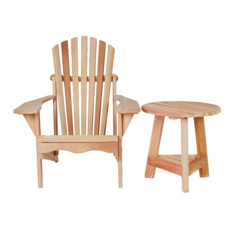 solid wood adirondack chair with side table chair design