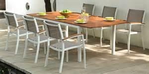 salon de jardin carla aluminium blanc table 6 chaises