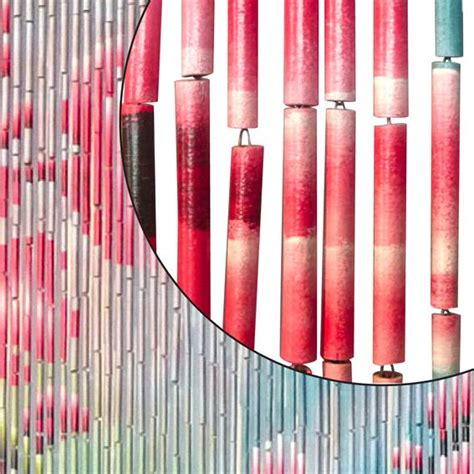 rideau de porte 90 x h200 cm bambou fleurs rideau de
