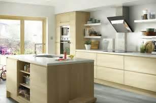 B Q Kitchen Ideas It Marletti Horizontal Oak Effect With Integrated Handle Diy At B Q