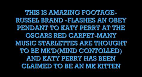 Illuminati Brands Cover Up Z Russel Brand Busted As Katy Perry S