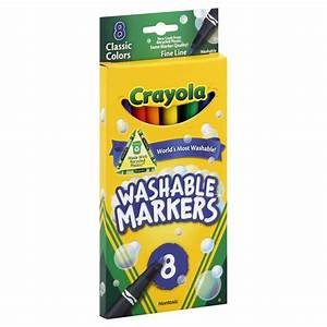 Crayola 25995411 Markers, Washable, Classic Colors, Fine ...