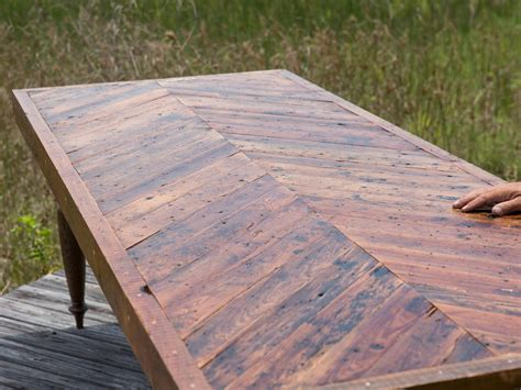 rustic cabin how to build a dining table with reclaimed materials how