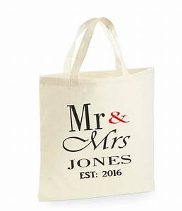personalised mr mrs bag wedding gifts for the bride With wedding gift bag ideas
