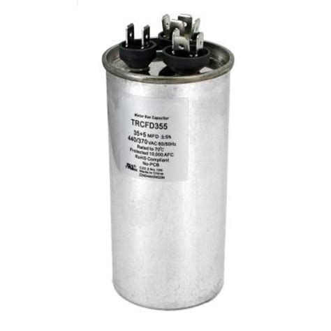 fan capacitor home depot packard 440 volt 35 5 mfd dual rated motor run round