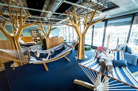work from home interior design hammocks in their office